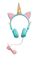 On-ear headphones - Turquoise/Unicorn - Kids | H&M CN 1